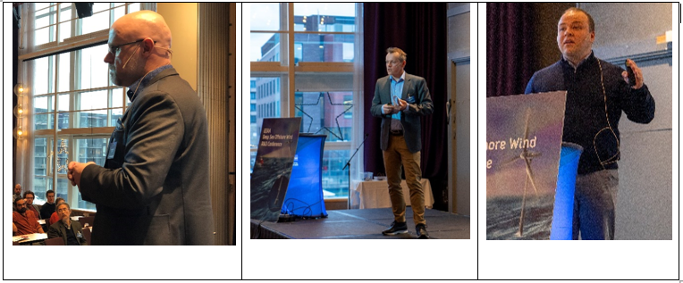 Keynote speakers during closing session. From left: Kristian Holm, Equinor, Dr. Jim Stian Olsen, Aker Solutions, and Dr. Carlos Eduardo Lima Da Cunha, EC.